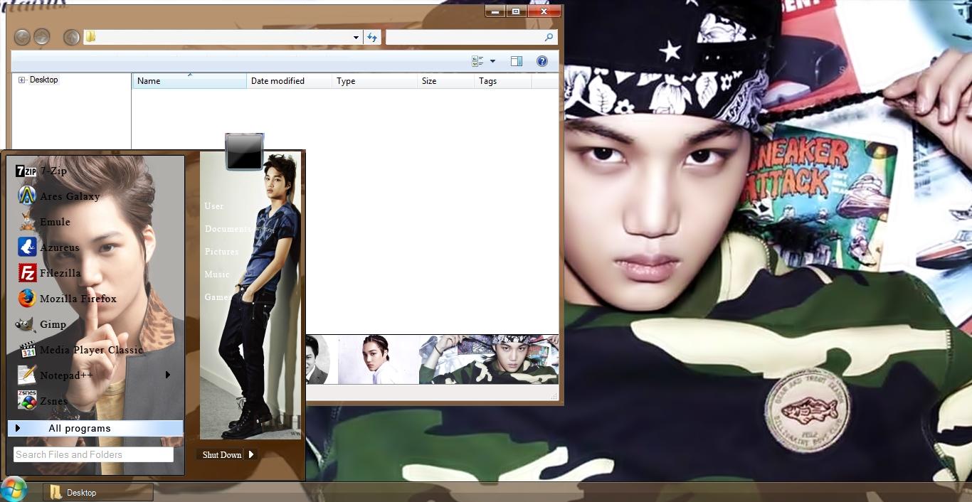 Google theme kpop exo - Kai Exo Windows 7 Theme Link 8 6 Mb Preview