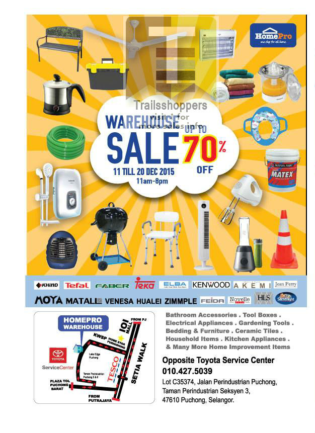 HomePro Warehouse Sale Puchong 2015
