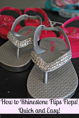 d68599081cbe I have always loved sparkle in my life. I wanted to jazz up some of my  girls flip flops for the summer.