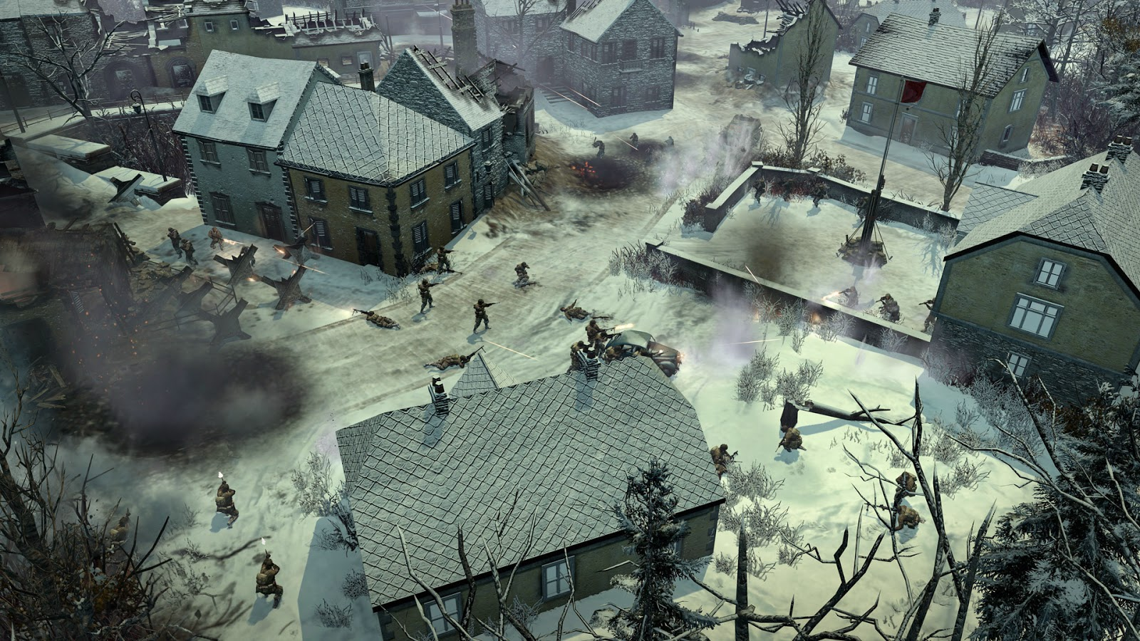 coh2 aa houffalize airborne sorrounded 1413197299 - Review: Company of Heroes 2: Ardennes Assault (PC)