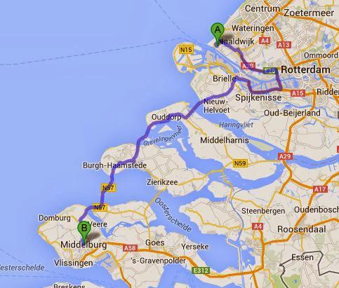 Hoek van Holland Middelburg