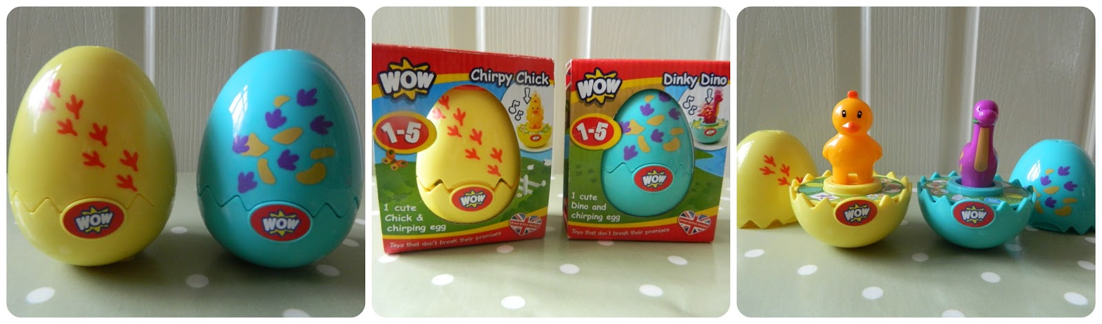 WOW Toys Easter Eggs My Dinky Dino My Tweety Chick