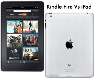 Amazon Kindle Fire and iPad