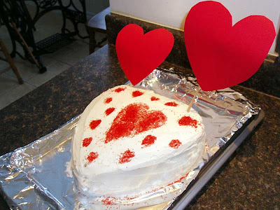 Hubby's Valentine cake, the lucky fella!