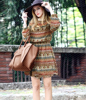 www.lucluc.com/dresses/long-sleeve-dresses/lucluc-orange-alencon-lace-elastic-aztec-dress.html?lucblogger1814