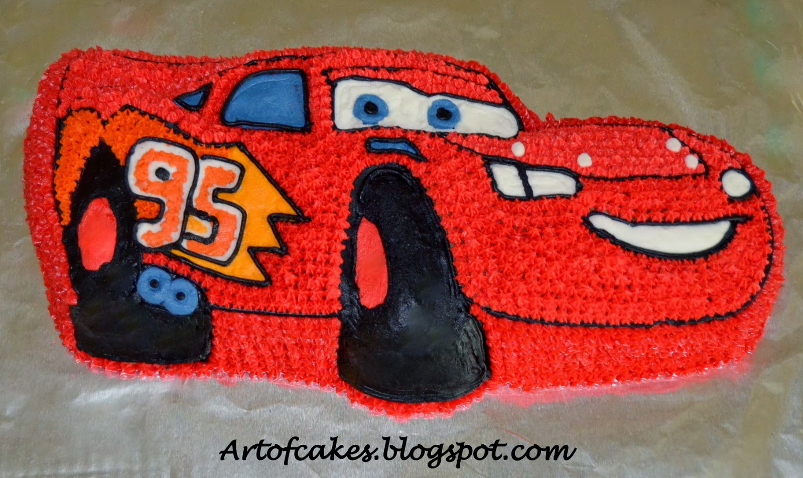 Art Of Cakes Lightning McQueen birthday cake