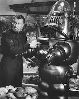 Walter Pidgeon and Robby the Robot