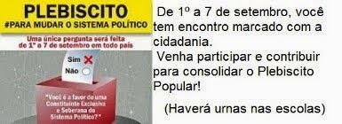 Plebiscito Popular # Para Mudar o Sistema Político do Brasil