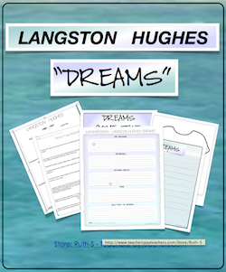 photo of Langston Hughes Dreams, PDF, English, Writing, Ruth S. TeachersPayTeachers.com