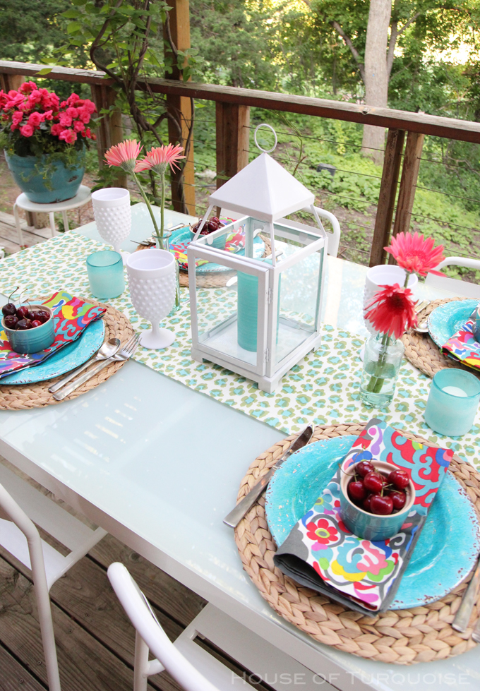 My Deck Makeover Reveal!   House of Turquoise   Bloglovin'