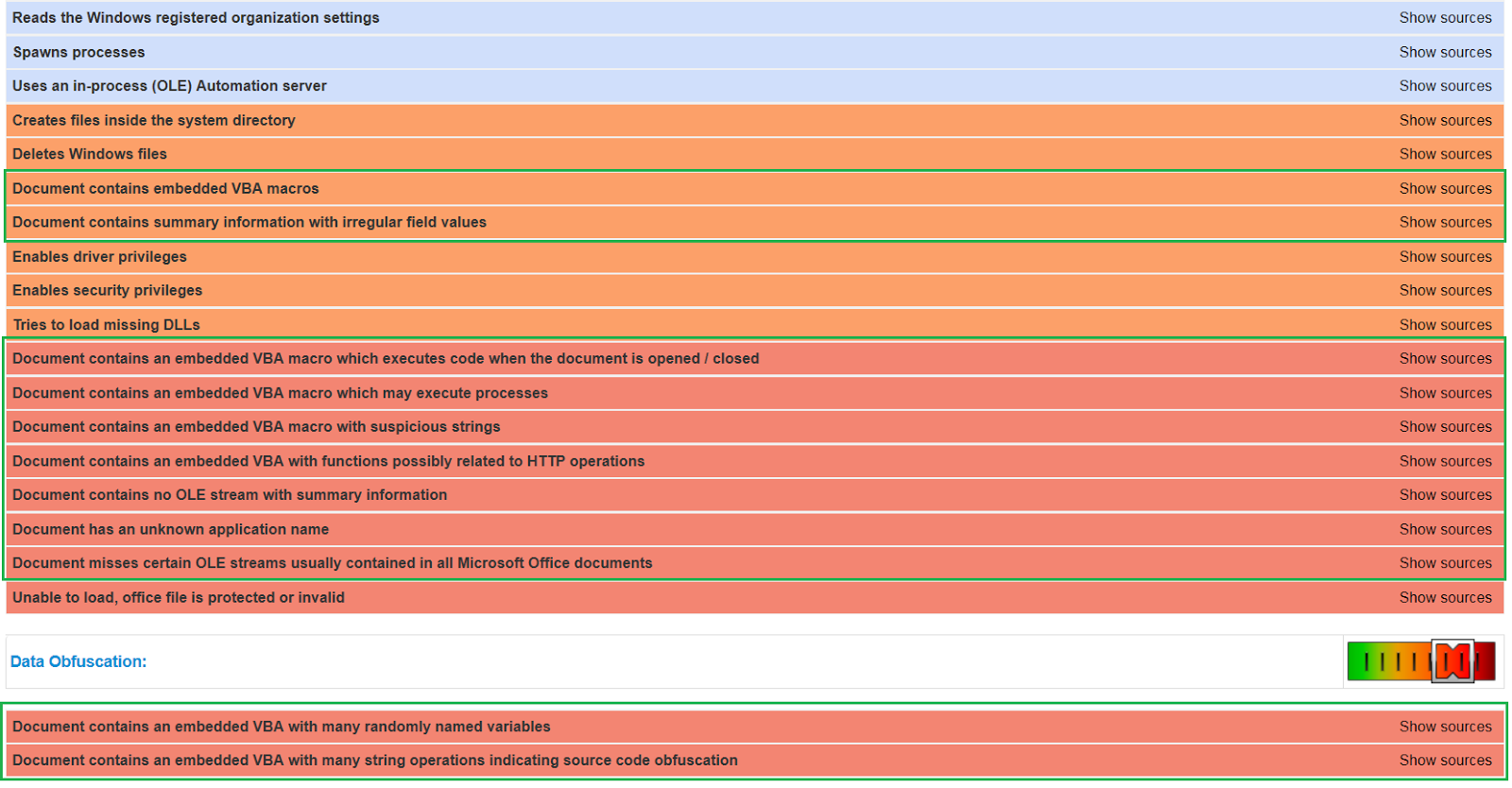 automated malware analysis spider charts deep ole 950 and more