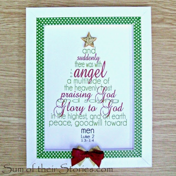 Christmas verse printable framed gift