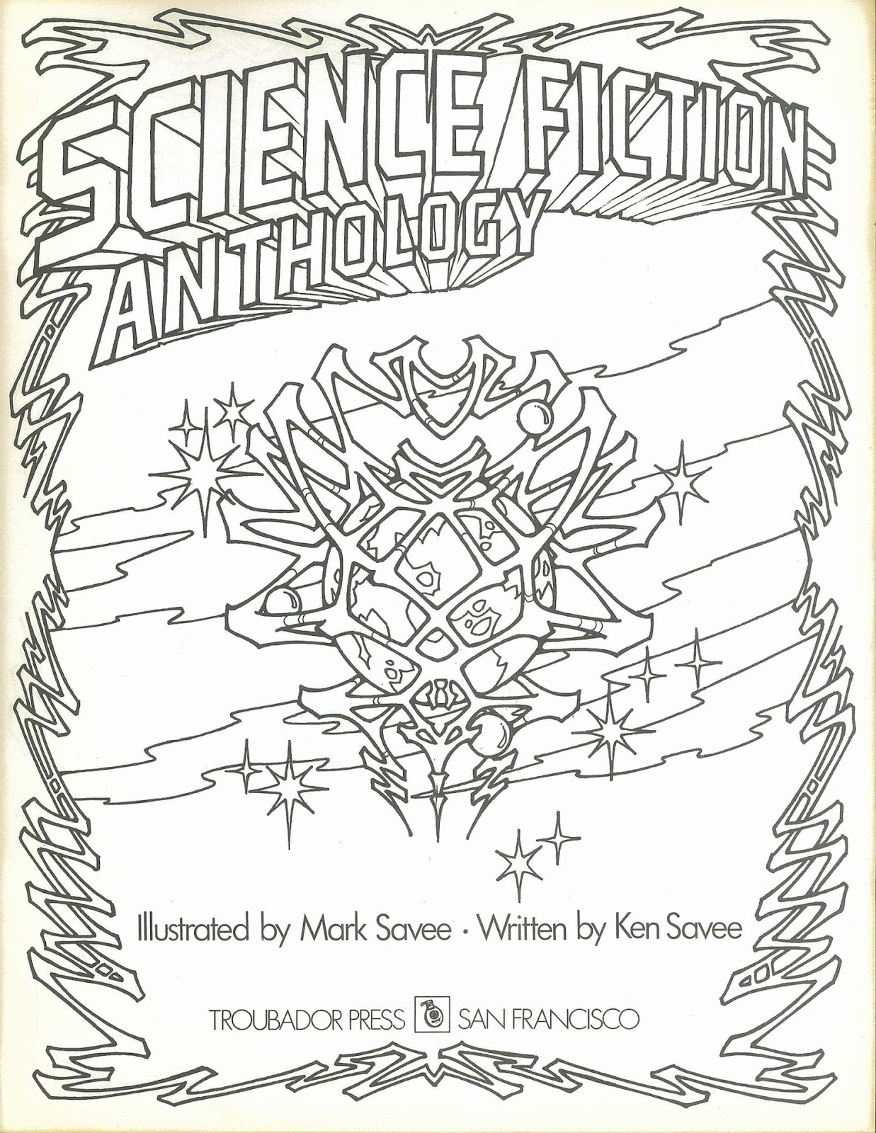inside jeff overturf  39 s head  quot science fiction anthology quot  coloring book 1 of 2 Space Theme Coloring Books  Sci Fi Coloring Book
