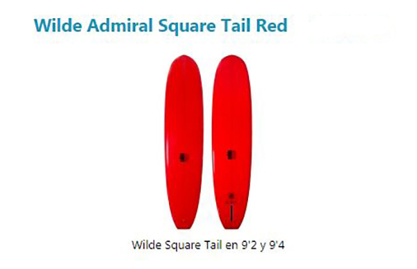 Wilde Admiral Square Tail Red