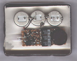 Solar powered led blinking circuit with transistors