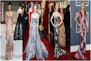 O que gosto mais nos vestidos estampados de festa é que são imprevisíveis, .