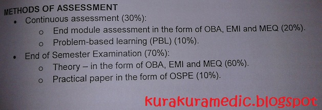 continous assesment or final exams