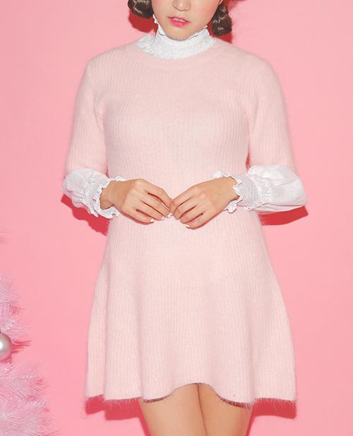 Knit A-Line Mini Dress