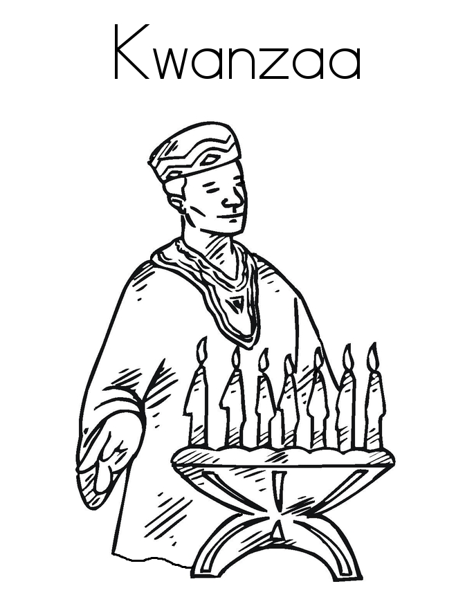 Seasonal coloring sheets kwanzaa day coloring pages for Kwanza coloring pages
