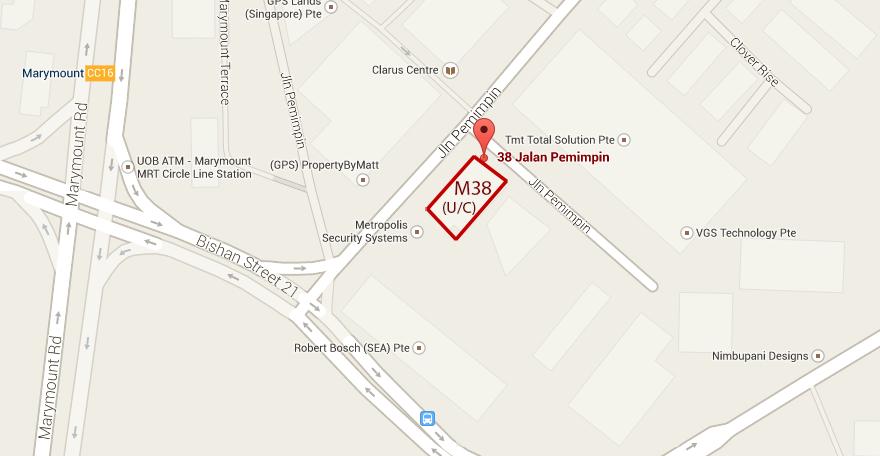 location map m38 jalan pemimpin