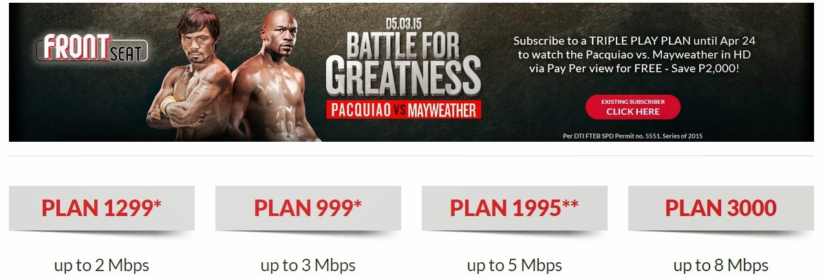 Watch Pacquiao-Mayweather Subscribe to PLDT TRIPLE PLAY Plan