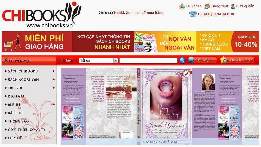 thiết kế web nhà sách