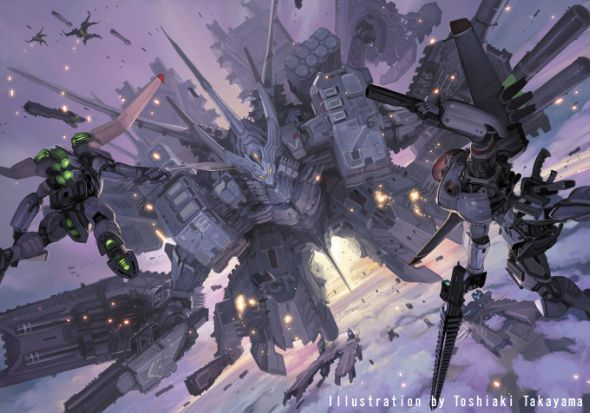 Toshiaki Takayama illustrations games fantasy science fiction scifi anime manga style robots rechas creatures