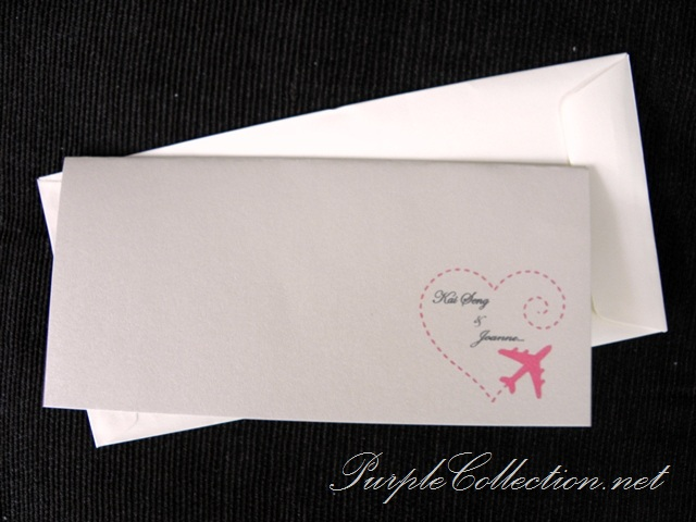 Boarding Pass Travel Wedding Invitation Card, Boarding Pass, Travel, Wedding, Invitation Card, Pink, Plane, Marriage