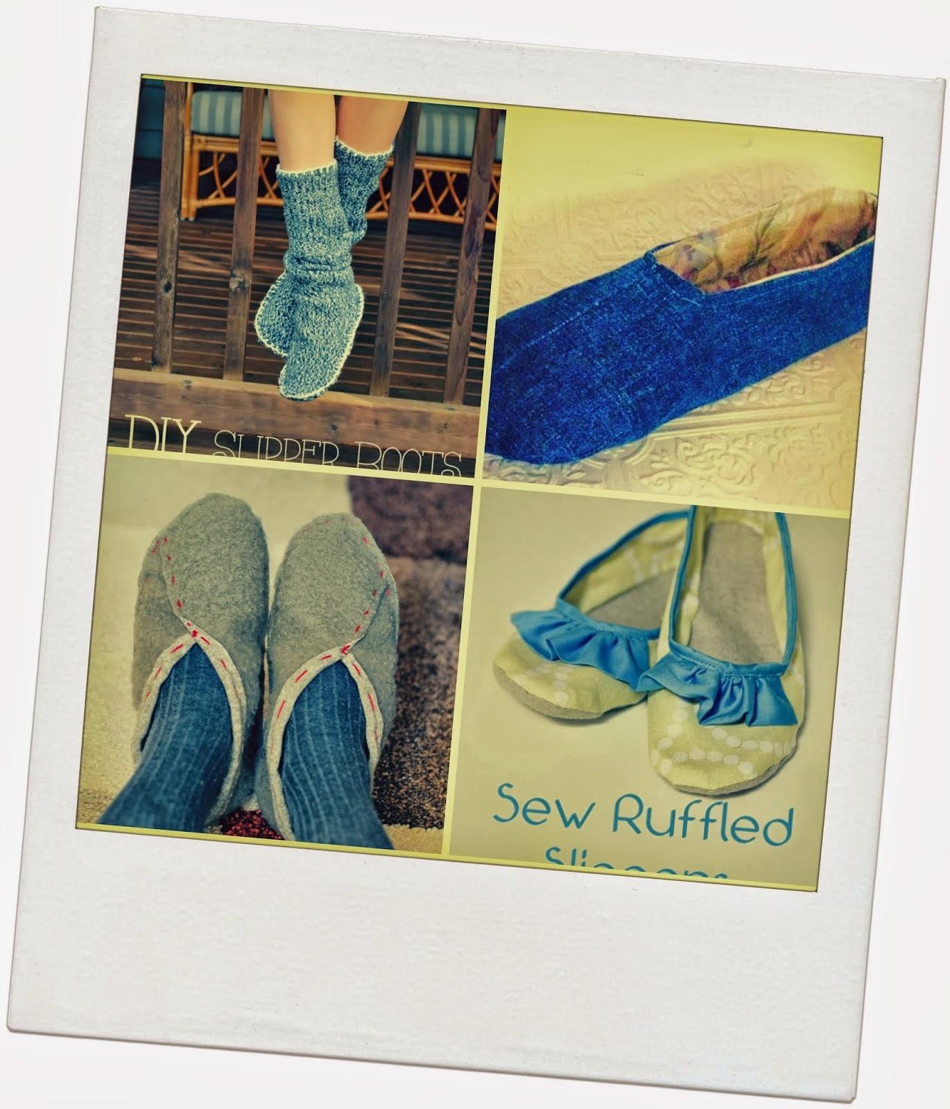 Amato Idee fai da te e tutorial: pantofole! Ciabatte fai da te con  GU83