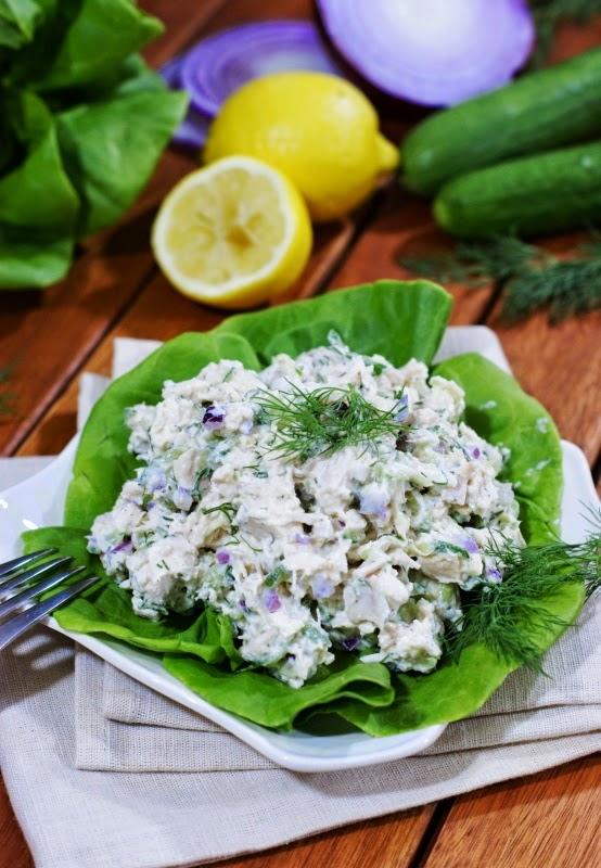 ... : Tzatziki Chicken Salad {aka: Cucumber & Greek Yogurt Chicken Salad