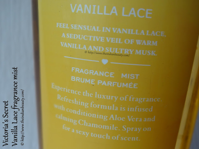 about victoria's secret vanilla lace body mist
