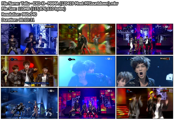 [Perf] EXO K   MAMA @ Mnet M!Countdown 120419