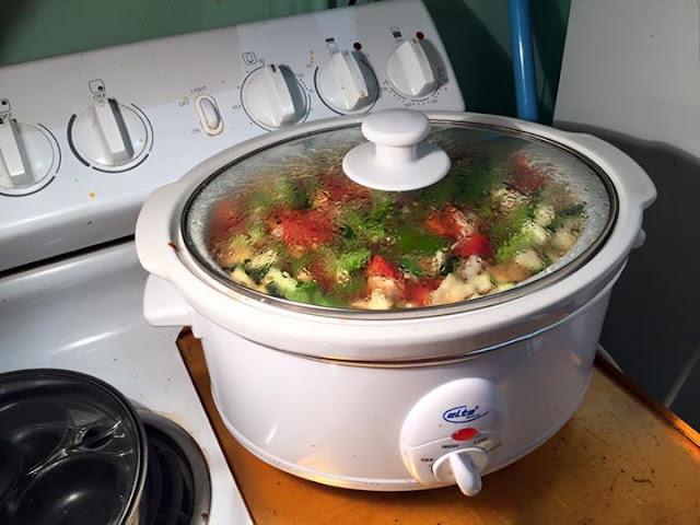 Slow Cooker Lentil Vegetable Soup Recipe