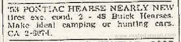 Zeitungsanzeige vom 14. August 1964