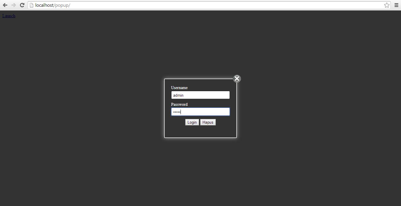 Membuat Form Login Popup dengan CSS dan Javascript