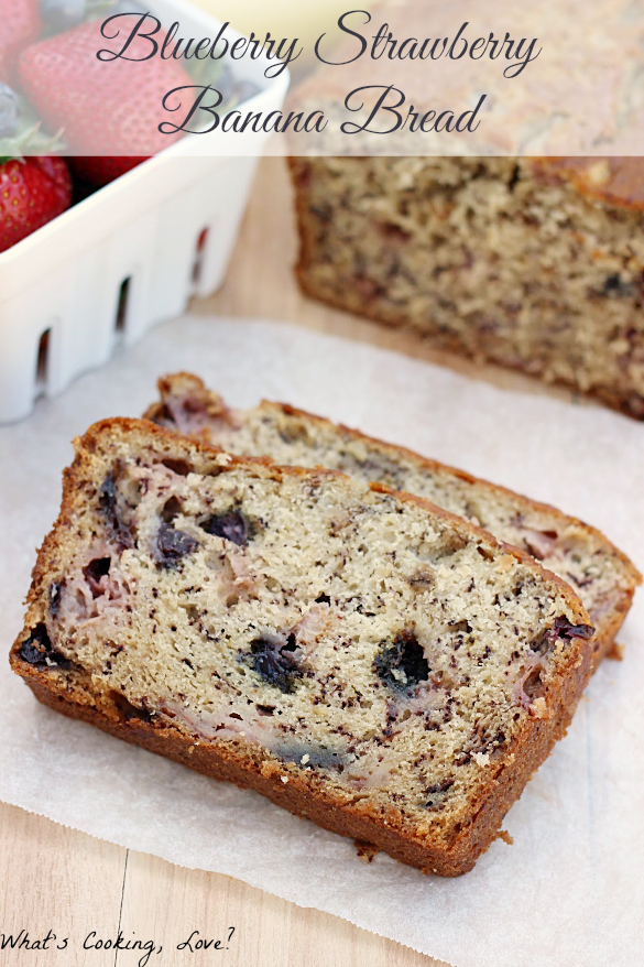 Blueberry Strawberry Banana Bread
