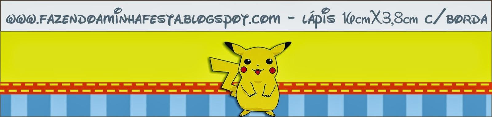 Etiquetas de Pokemon para imprimir gratis.