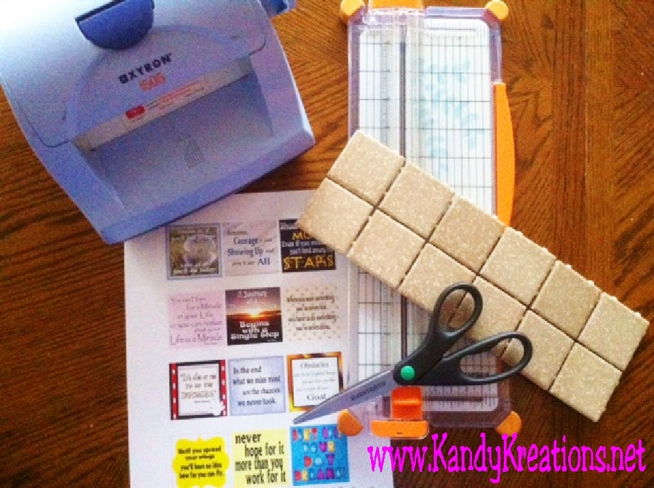 How to make your own tile magnets in 10 minutes or less. Easy instructions and tools to turn your quotes or instagram pictures into great magnets for your home.