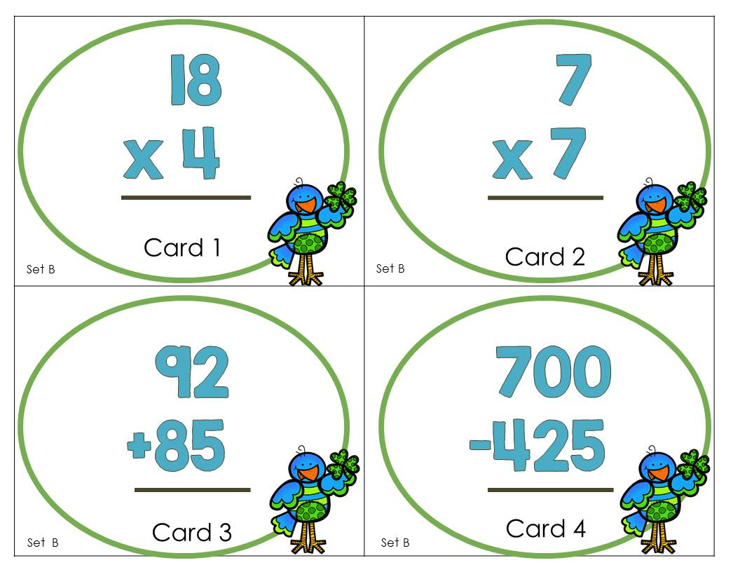 https://www.teacherspayteachers.com/Product/Math-Operation-Review-Task-Cards-1756380