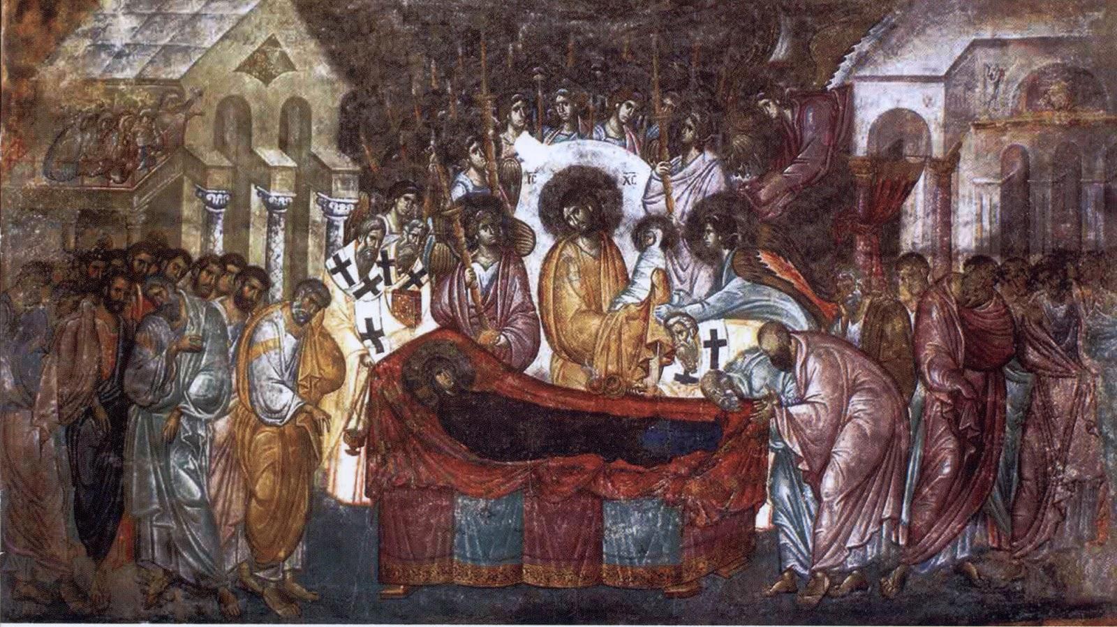 Фреска Успение Богородицы