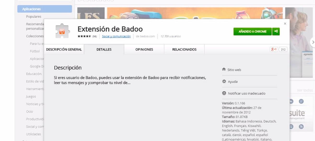 Extensión Gratuita Badoo Chrome