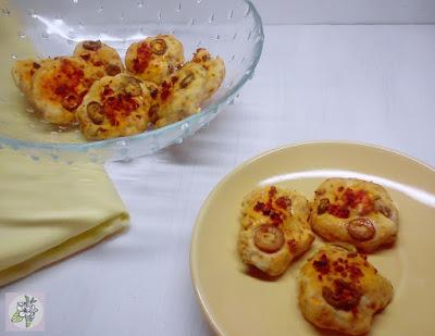 Galletitas de Chorizo Vegano y Aceitunas