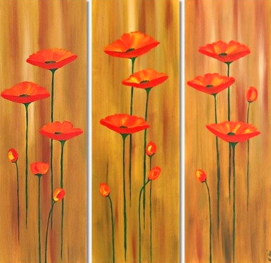 Im genes arte pinturas cuadros modernos con flores for Cuadros de oleo modernos