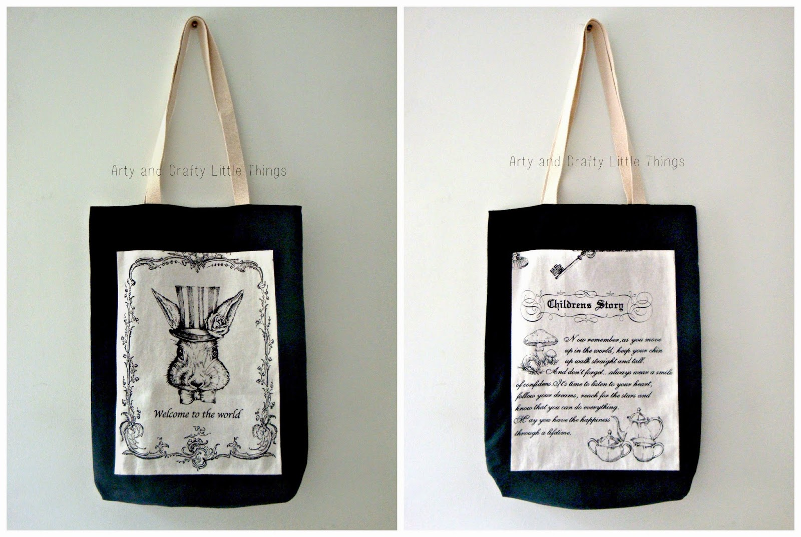 Alice in wonderland's bag