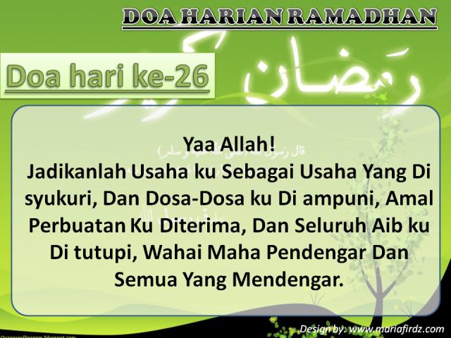Doa Hari Ke-26