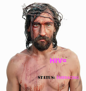 HIV= Jesus (photo found online with no credits given; text added by me)