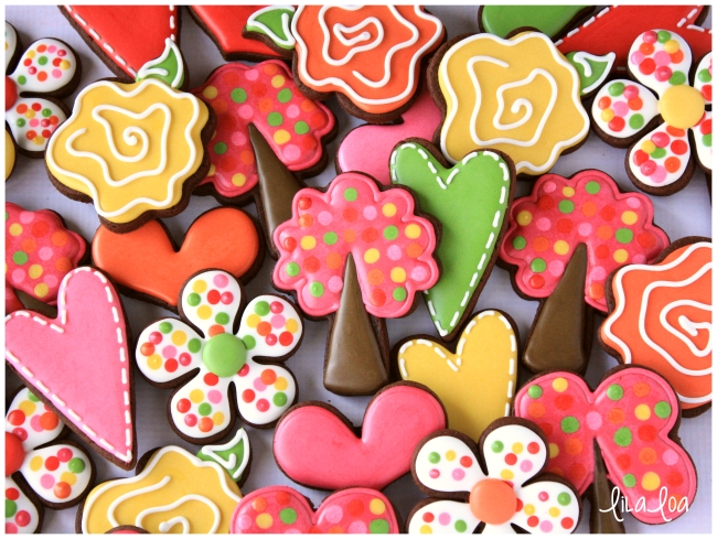 decorated valentine's day tree cookies -- cookies and cards, Ideas