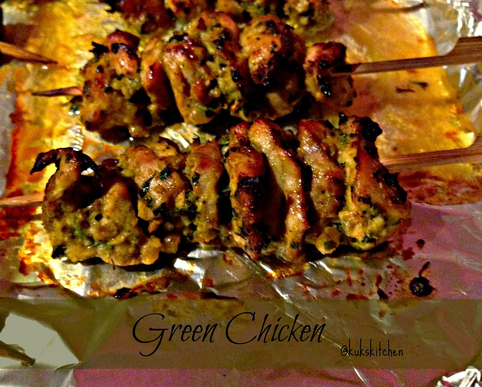 Green chicken Kebab | Kukskitchen