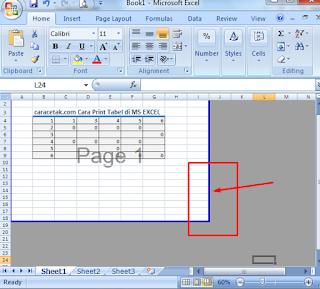 Cara print tabel dari MS Excel agar sesuai ukuran