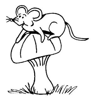Desenhos de Rato para imprimir